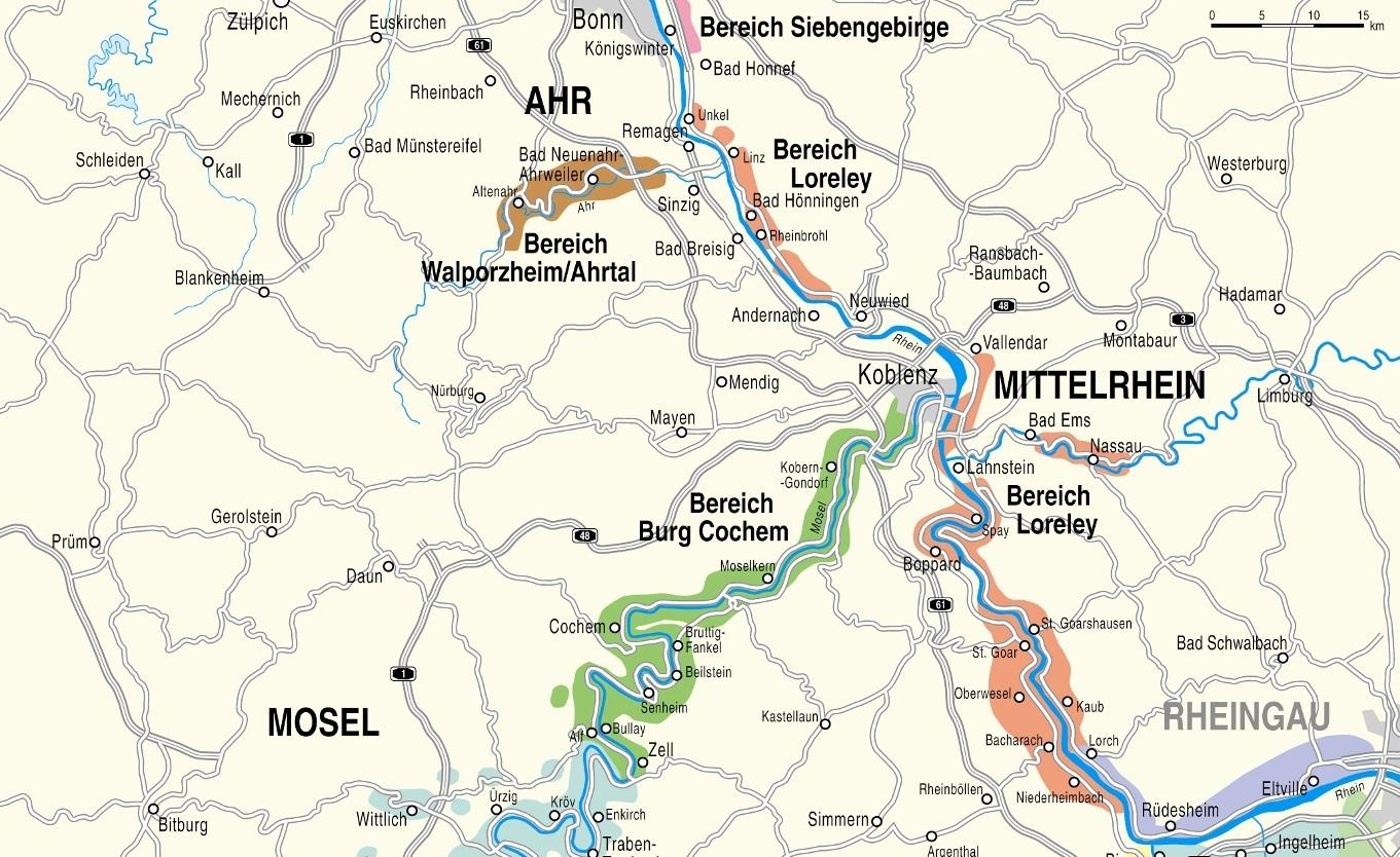 Mittelrheintal Karte.Weine Von Mittelrhein Wein Plus Weinfuhrer